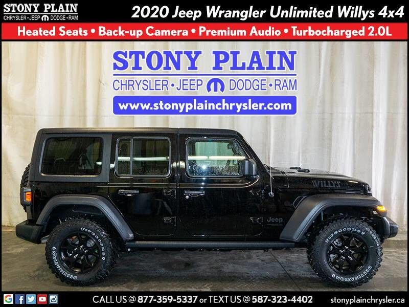 2020 Jeep Wrangler Unlimited Willys Stony Plain AB