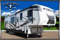 Keystone Fuzion Impact 343 Triple Slide 5th Wheel Toy Hauler 2020