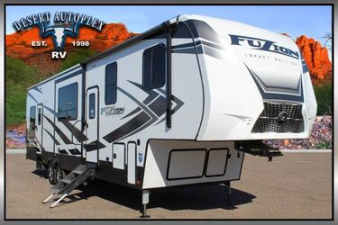 Keystone Fuzion Impact 367 Triple Slide 5th Wheel Toy Hauler RV Mesa AZ
