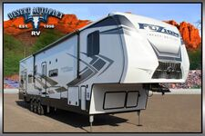 2020 Keystone Fuzion Impact 415 Double Slide 15' Garage 5th Wheel Toy Hauler