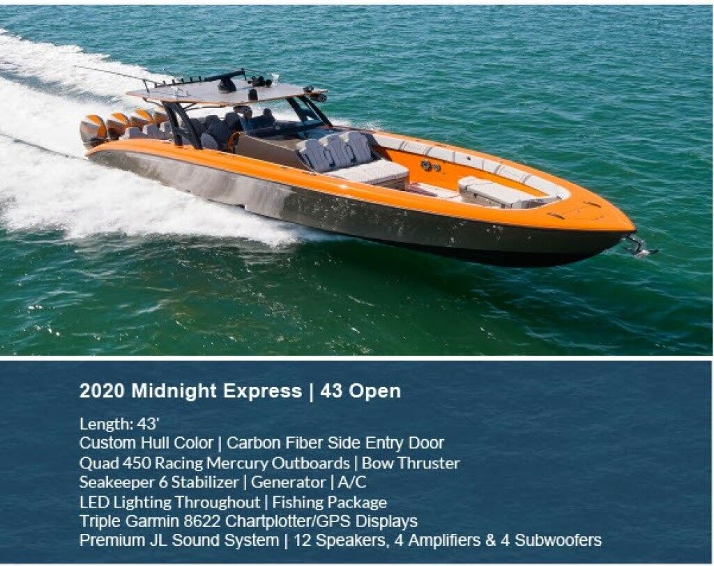 2020 Midnight Express 43' Open North Miami Beach FL