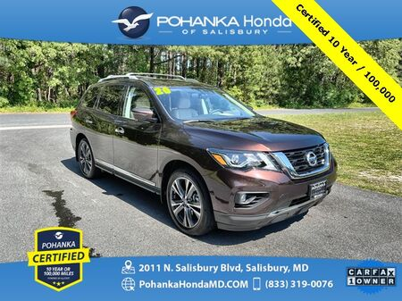 2020_Nissan_Pathfinder_Platinum 4WD ** Pohanka Certified 10 Year / 100,000 **_ Salisbury MD