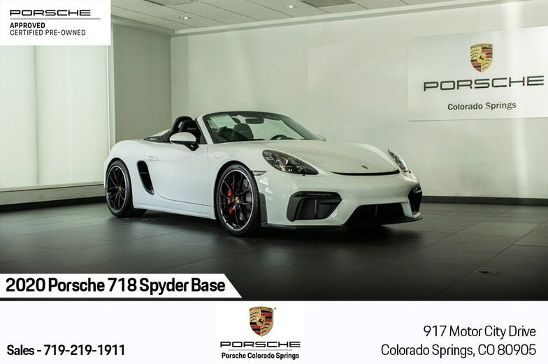 2020 Porsche 718 Spyder Base Colorado Springs CO