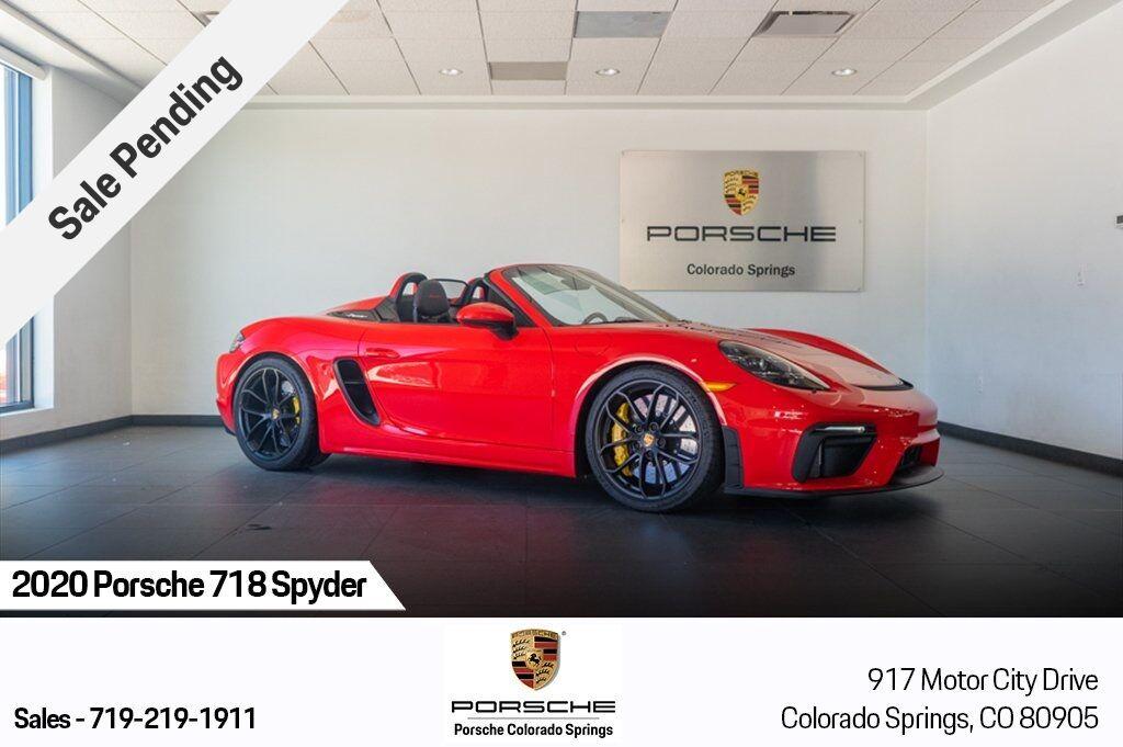 2020 Porsche 718 Spyder Base Colorado Springs CO