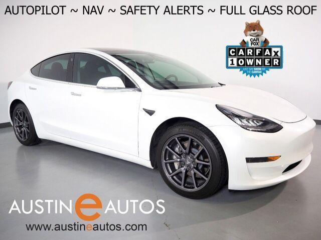 2020 Tesla Model 3 Standard Range Plus *NAVIGATION, SAFETY ALERTS, ADAPTIVE CRUISE, SURROUND VIEW CAMERAS, GLASS ROOF, HEATED SEATS, ALLOY WHEELS, BLUETOOTH PHONE & AUDIO Round Rock TX