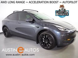 2020_Tesla_Model Y Long Range AWD_*ACCELERATION BOOST, AUTOPILOT, NAVIGATION, SAFETY ALERTS, ADAPTIVE CRUISE, SURROUND VIEW CAMERAS, PANORAMA GLASS ROOF, UPGRADED STEERING WHEEL, HEATED SEATS, 20 INCH WHEELS_ Round Rock TX
