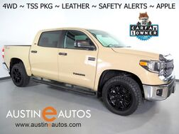 2020_Toyota_Tundra SR5 CrewMax 4WD 5.7L V8_*TSS PACKAGE, ADAPTIVE CRUISE, LANE DEPARTURE ALERT, COLLISION ALERT w/BRAKING, BACKUP-CAMERA, COLOR TOUCH SCREEN, LEATHER, FRONT BUCKET SEATS, BLACK ALLOY WHEELS, APPLE CARPLAY_ Round Rock TX