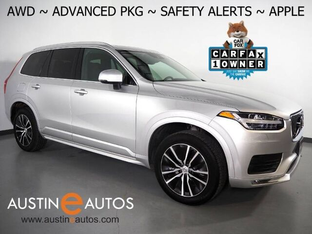 2020 Volvo XC90 T6 AWD Momentum 7-Passenger *ADVANCED PKG, HEADS-UP DISPLAY, NAVIGATION, SURROUND CAMERAS, BLIND SPOT ALERT, PANORAMA MOONROOF, LEATHER, HEATED SEATS/STEERING WHEEL, APPLE CARPLAY Round Rock TX