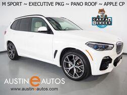 2021_BMW_X5 xDrive40i AWD_*M SPORT PKG, EXECUTIVE PKG, HEADS-UP DISPLAY, LIVE COCKPIT PRO, NAVIGATION, SAFETY ALERTS, BACKUP-CAMERA, PANORAMA MOONROOF, VERNASCA LEATHER, CLIMATE SEATS, BLUETOOTH, APPLE CARPLAY_ Round Rock TX