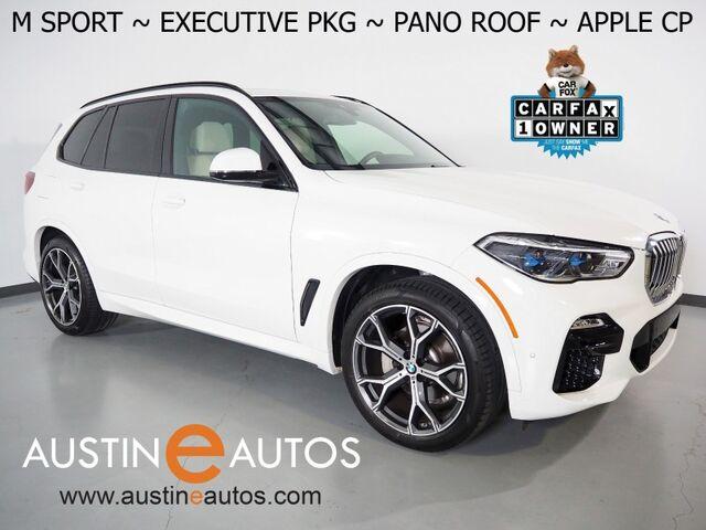 2021 BMW X5 xDrive40i AWD *M SPORT PKG, EXECUTIVE PKG, HEADS-UP DISPLAY, LIVE COCKPIT PRO, NAVIGATION, SAFETY ALERTS, BACKUP-CAMERA, PANORAMA MOONROOF, VERNASCA LEATHER, CLIMATE SEATS, BLUETOOTH, APPLE CARPLAY Round Rock TX