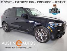 BMW X5 xDrive40i AWD *M SPORT PKG, EXECUTIVE PKG, HEADS-UP DISPLAY, LIVE COCKPIT PRO, SAFETY ALERTS, BACKUP-CAMERA, NAVIGATION, PANORAMA MOONROOF, LEATHER, CLIMATE SEATS, HARMAN KARDON, BLUETOOTH, APPLE CARPLAY 2021