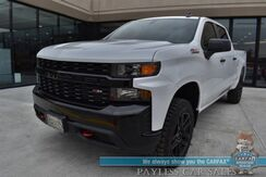 2021_Chevrolet_Silverado 1500_Custom Trail Boss / Z71 Off-RD Pkg / 4X4 / Crew Cab / 5.3L V8 / Auto Start / Seats 6 / Apple Carplay & Android Auto / Bluetooth / Back Up Camera / Cruise Control / Bed Liner / Tow Pkg / Only 34 Miles / 1-Owner_ Anchorage AK
