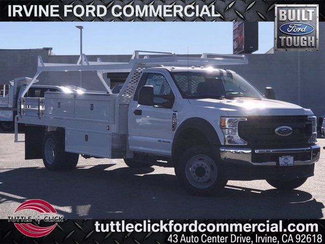 2021 Ford Super Duty F-550 DRW XL Scelzi 14' Contractor Body Diesel Irvine CA