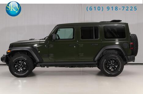 2021_Jeep_Wrangler 4WD_Unlimited Willys Diesel SKY ONE-TOUCH_ West Chester PA