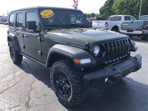 2021_Jeep_Wrangler_UNLIMITED WILLYS SPORT 4X4_ Evansville IN