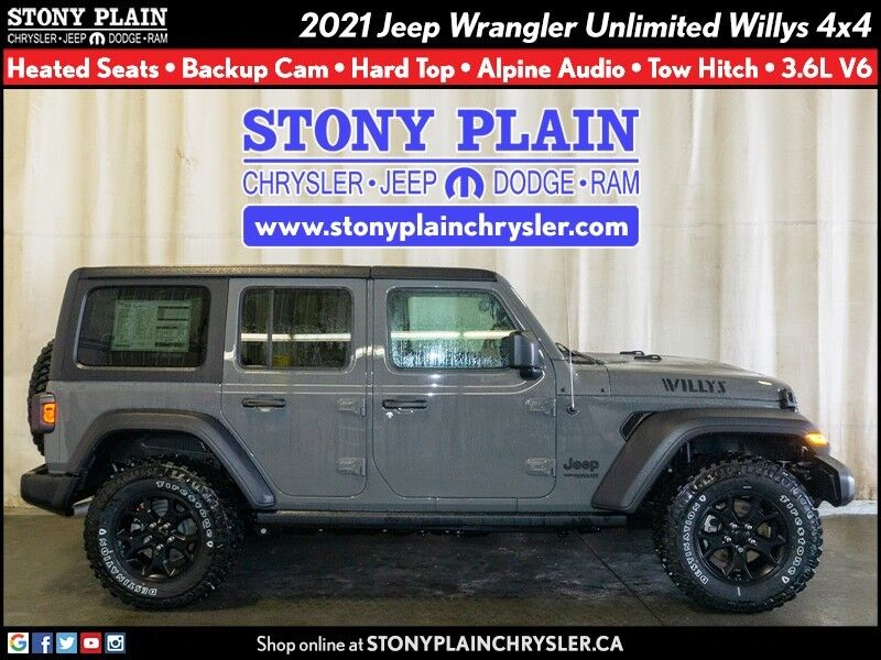 2021 Jeep Wrangler Unlimited Willys Stony Plain AB