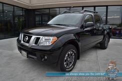 2021_Nissan_Frontier_PRO-4X / 4X4 / Crew Cab / Power & Heated Leather Seats / Sunroof / Rockford Fosgate Speakers / Navigation / Bluetooth / Back Up Camera / Bed Liner / Tow Pkg / Only 116 Miles / 1-Owner_ Anchorage AK
