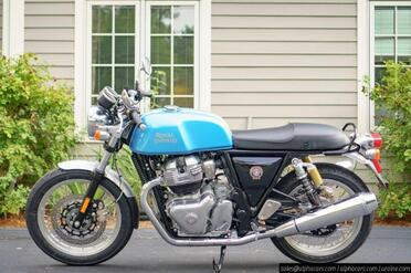 2021_Royal Enfield_Continental GT 650_Ventura Blue_ Boxborough MA