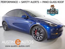2021_Tesla_Model Y Performance AWD_*NAVIGATION, SAFETY ALERTS, ADAPTIVE CRUISE, SURROUND VIEW CAMERAS, PANORAMA GLASS ROOF, HEATED SEATS/STEERING WHEEL, 21 INCH WHEELS, BLUETOOTH PHONE & AUDIO_ Round Rock TX