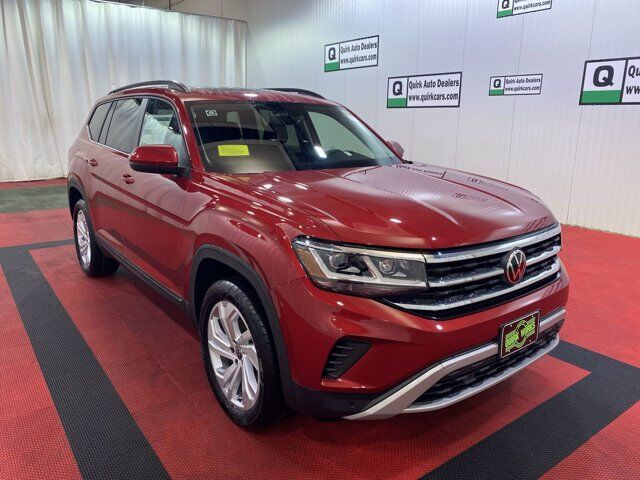 2021 Volkswagen Atlas 3.6L V6 SE w/Technology Bench Seats & Panoramic Roof Braintree MA
