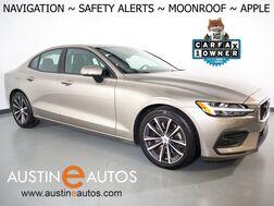 2021_Volvo_S60 T6 AWD Momentum_*NAVIGATION, BLIND SPOT & LANE DEPARTURE ALERT, COLLISION ALERT w/BRAKING, BACKUP-CAMERA, MOONROOF, HEATED SEATS/STEERING WHEEL, APPLE CARPLAY_ Round Rock TX