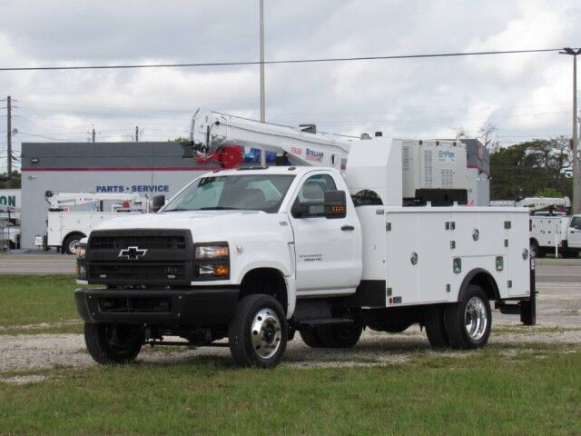 2022 Chevrolet 6500 HD 4x4 Utility Service Truck with Stellar 7630 crane Homestead FL