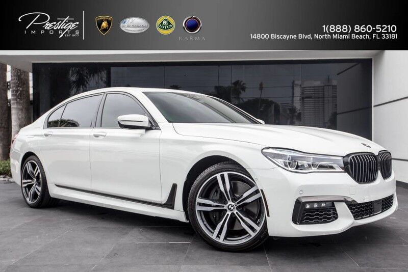 2016 BMW 7 Series 750i M xDrive AutoBahn Pkg North Miami Beach FL