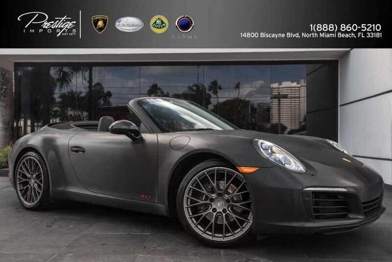 2017 Porsche 911 Carrera North Miami Beach FL