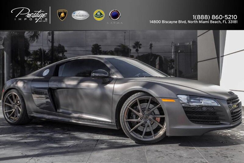 2009 Audi R8 V8 4.2L Matte Gray Manual Transmission North Miami Beach FL