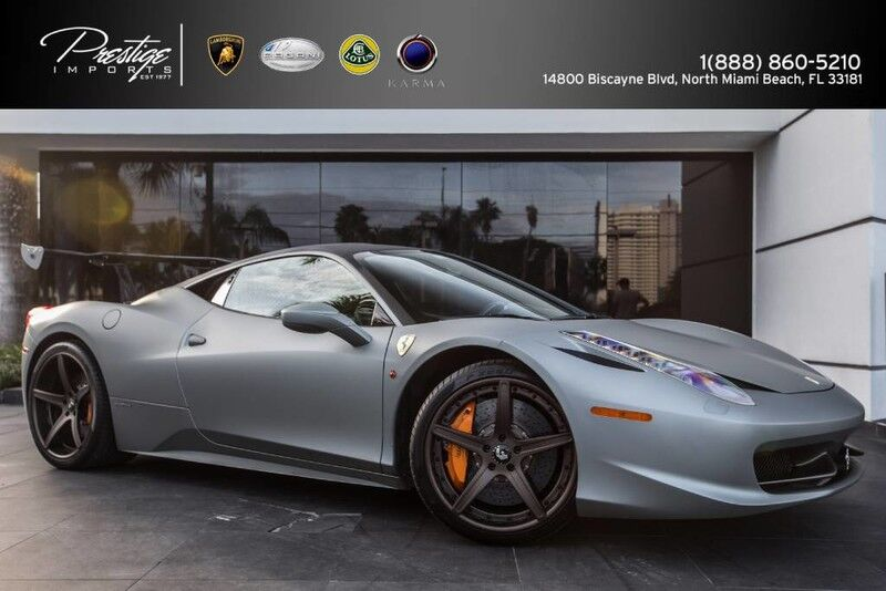 2011 Ferrari 458 Italia Matte Gray  North Miami Beach FL