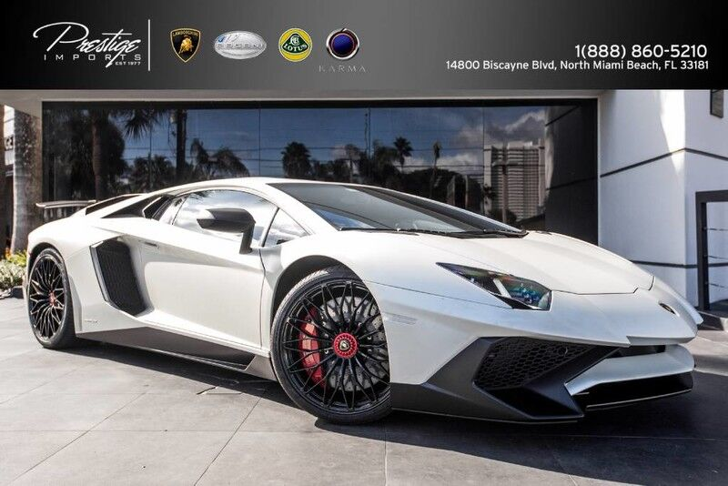 2016 Lamborghini Aventador LP 750-4 Superveloce Coupe North Miami Beach FL