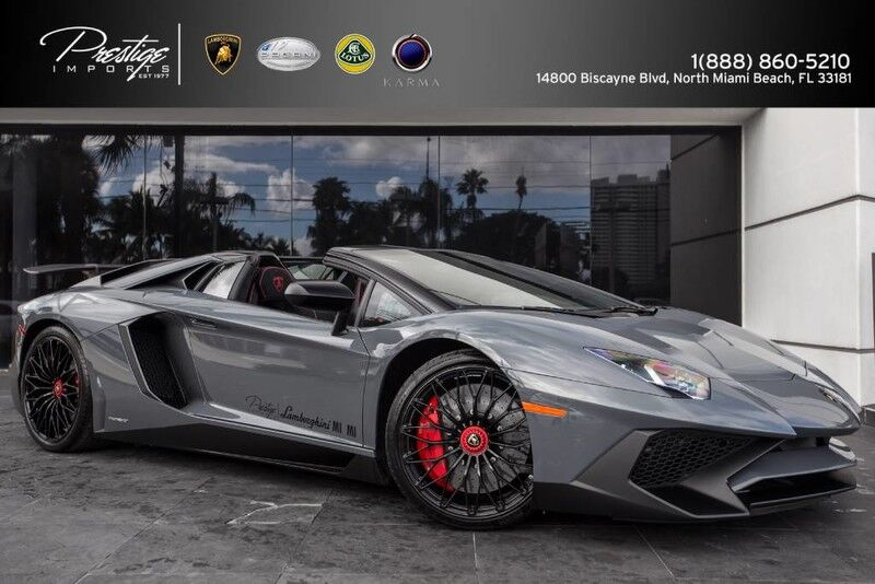 2017 Lamborghini Aventador SuperVeloce Roadster North Miami Beach FL