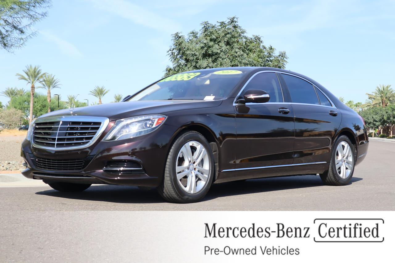 used 2017 Mercedes-Benz S car, priced at $56,491